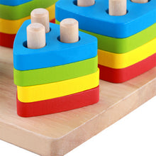 Load image into Gallery viewer, Kids Montessori Learning Wooden Blocks