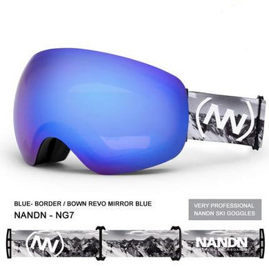 2 Double Lens Ski Goggles - Zalaxy