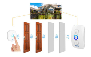Home Security Welcome Wireless Doorbell Smart Chimes Alarm - Zalaxy