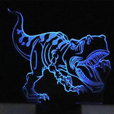 3D LED Night Light Tyrannosaurus Decoration Lamp With 7 Colours - Zalaxy