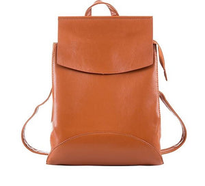 Women's Pu Leather Leisure Backpack