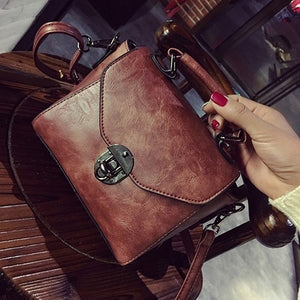 Vintage Leather Female Top-handle Bags