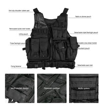 Load image into Gallery viewer, Men Military Tactical Vest Paintball Camouflage - Zalaxy