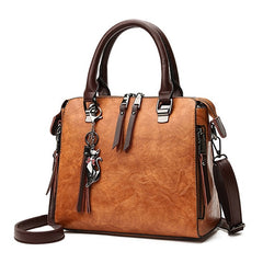 Women's Fashion Double Zipper Vintage Crossbody Bag