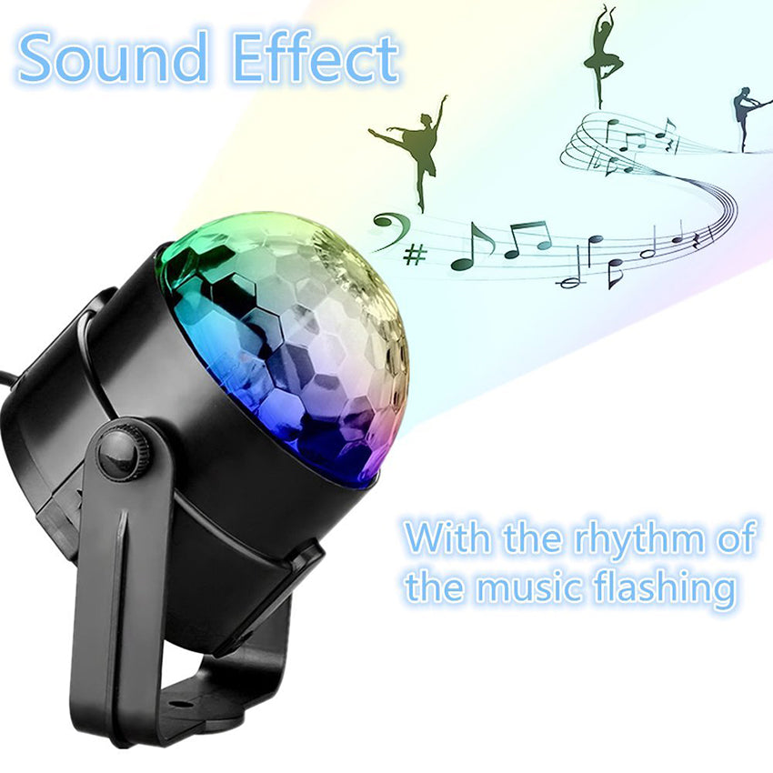 Sound Activated Rotating Disco Ball Party Lights Strobe Light - Zalaxy