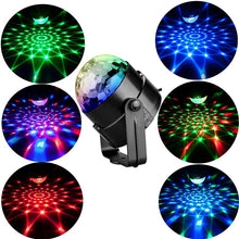 Load image into Gallery viewer, Sound Activated Rotating Disco Ball Party Lights Strobe Light - Zalaxy