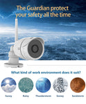 Wireless Security Waterproof Surveillance Camera 1080P 2MP FHD