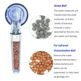 3 Function Adjustable Anion Filter SPA Nozzle Shower Heads - Zalaxy