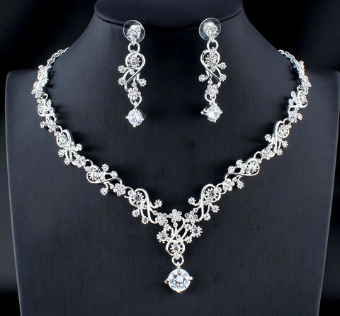 Classic Gold Silver Jewelry Set