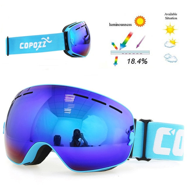 Double Layers UV400 Goggles - Zalaxy