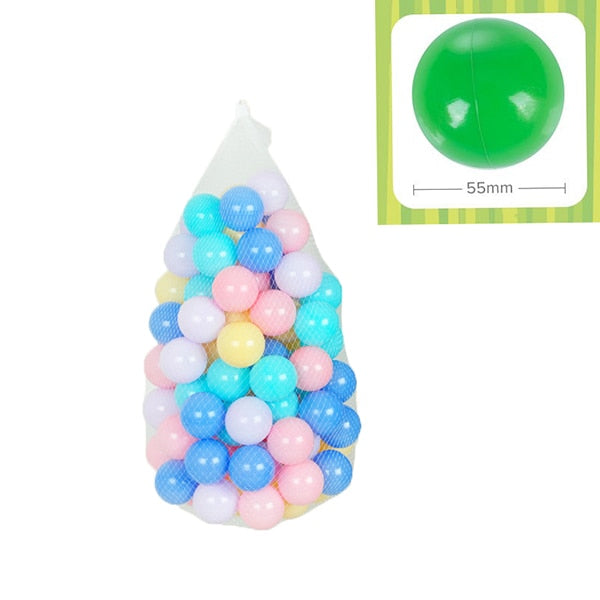 100pcs/Lot Eco Friendly Colourful Soft Plastic Ball