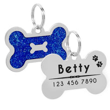 Load image into Gallery viewer, Glitter Personalized Dog Tag