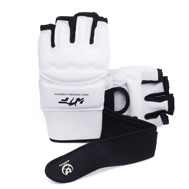 PU Leather Half Finger Boxing Gloves