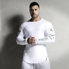 Long Sleeve Fitness T Shirt Men