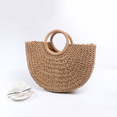 Fashion Moon Straw Summer Handbags