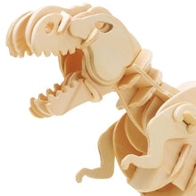 Load image into Gallery viewer, Creative DIY 3D Walking T-rex Wooden Puzzle - Zalaxy
