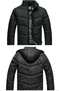 Men's  Casual Slim Cotton With Hooded Parkas - Zalaxy