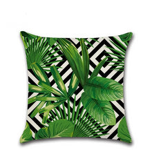 Load image into Gallery viewer, Tropical Plants Cushion Covers