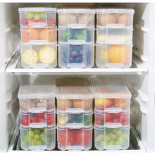Load image into Gallery viewer, Plastic Storage Bins Refrigerator Storage Box