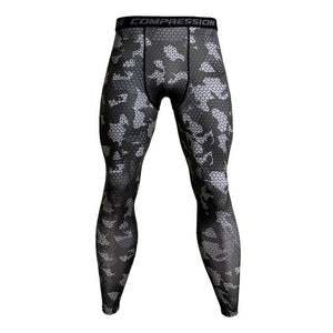 Camo Compression Pants Men Sport Wear - Zalaxy