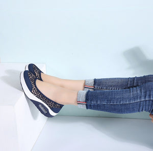 Women Breathable Casual Sneakers Shoes Slip On