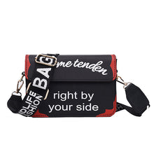 Load image into Gallery viewer, Women's Wide Handle Letter Pattern Crossbody Bag