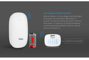 Wireless Home Vibration Detector Shock Door Window Sensor Alarm