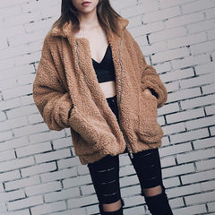 Women's Plush Overcoat