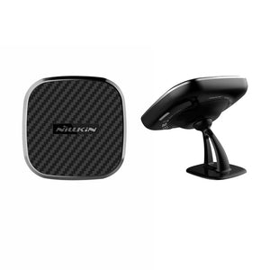 10w Qi Car Wireless Fast Charger 2 In 1 Magnetic Vehicle Mount Phone Holder - Zalaxy