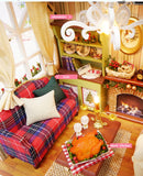 DIY Wooden Dollhouse With Furniture Kits - Zalaxy