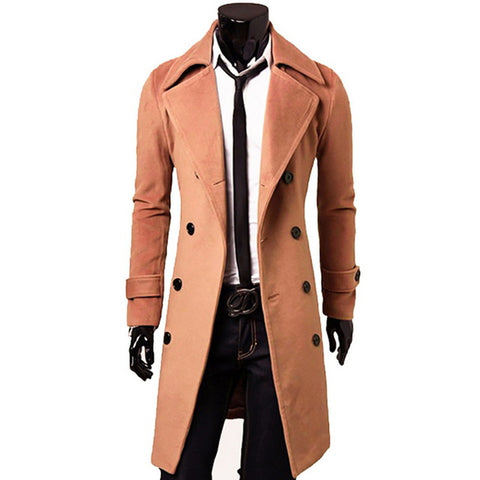 Men's Autumn/Winter Cotton Trench Coat C13 - Zalaxy