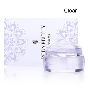 Clear Chess Silicone Nail Stamper With Scraper
