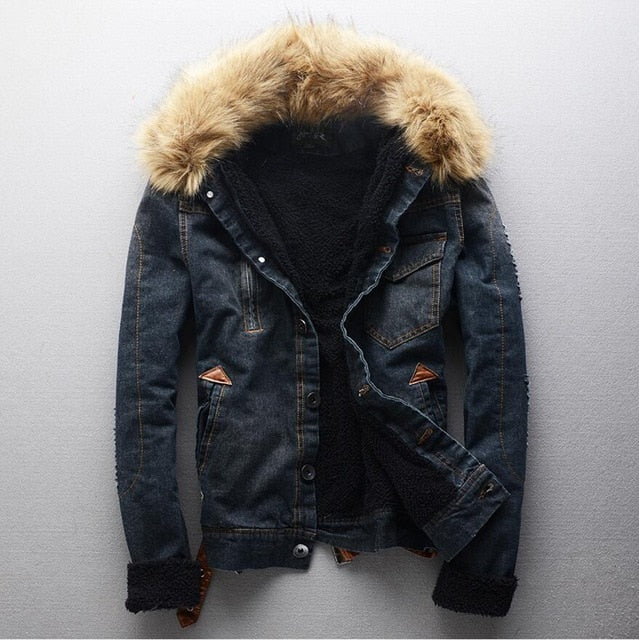 Thicker Warm Denim Coats