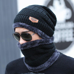 Neck Knit Cap Scarf Beanies