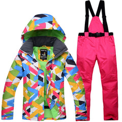 Winter Snow Jacket Women Ski Suit