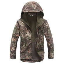 Load image into Gallery viewer, Men's Waterproof Camouflage Army Hooded Jacket