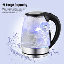 Load image into Gallery viewer, Glass Electric Kettle