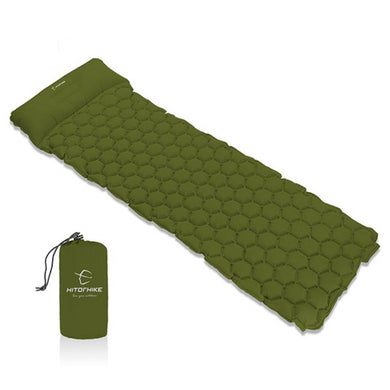 Inflatable Sleeping Pad Camping Mat With Pillow - Zalaxy