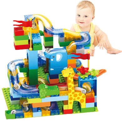 Marble Race Run Maze Ball Jungle Track Building Blocks - Zalaxy