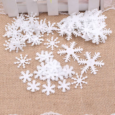 100pcs Snowflake Winter Home Decoration - Zalaxy