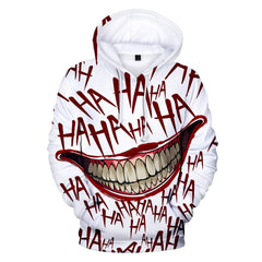 Joker 3D Print Hip Hop  Sweatshirt Hoodies