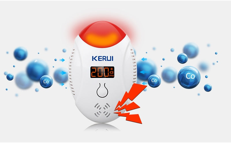 LED Digital Display Carbon Monoxide Detectors - Zalaxy