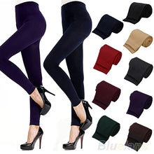 Load image into Gallery viewer, Women's Stretch Thicken Leggings Warm Skinny Pants