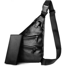 Load image into Gallery viewer, Leather Man Messenger Bag