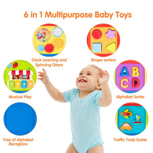 Multi-Functional Musical Activity Cube Toy