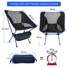 Load image into Gallery viewer, Portable Folding Fishing Chair