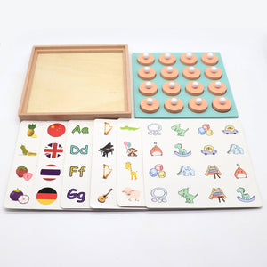 Kids Wooden Memory Match Chess Game