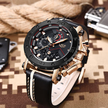 Load image into Gallery viewer, Men's Luxury Waterproof Military Leather Chronograph Watch - Zalaxy
