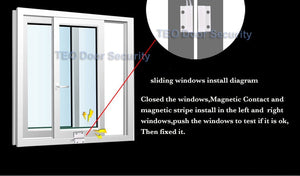 Wired Window Magnetic Door Contact Sensor Detector Switch