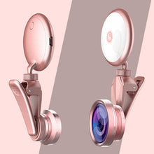 Load image into Gallery viewer, Universal Selfie Ring Light with HD Fisheye Wide Angle Macro Lens - Zalaxy